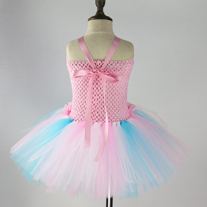 Image 5 - Kids Candy Color Ruched Ice cream tutu dress costume baby girls brithday party dresses Princess dresses girl vestidos PQ255
