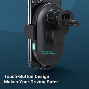 Image 5 - TOPK 15W kablosuz araç şarj cihazı indüksiyon araç montaj iPhone 11 Xiaomi hızlı kablosuz şarj araç telefonu tutucu