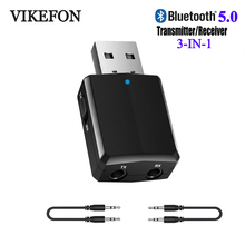 VIKEFON Bluetooth Receiver Transmitter Mini Stereo Bluetooth 5.0 Audio AUX RCA USB 3.5mm Jack For TV PC Car Kit Wireless Adapter