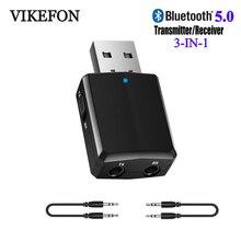 VIKEFON Bluetooth récepteur émetteur Mini stéréo Bluetooth 5.0 Audio AUX RCA USB 3.5mm prise pour TV PC voiture Kit adaptateur sans fil