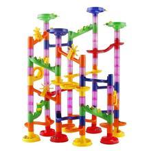 Ball-Roll-Toys Maze Race-Run Building-Blocks Track DIY 105pcs Construction-Marble Christmas-Gifts