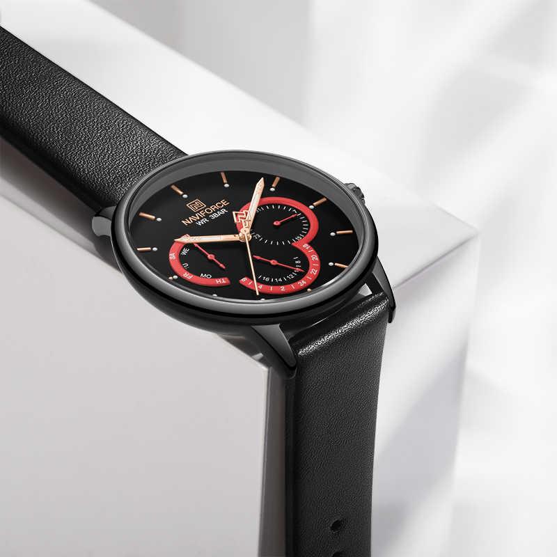 Мужские часы NAVIFORCE, Топ бренд, роскошные модные кварцевые мужские часы, водонепроницаемые, с календарем, мужские часы, дата, спортивные, Relogio Masculino