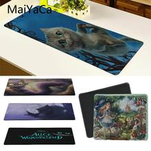 Hot Sales Alice in Vonderland Silicone Pad to Mouse Game Large Gaming Mouse Pad Locking Edge Mousepad For CSGO(China)