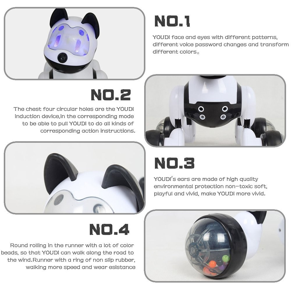 Voice Control Voice Activated Robot Dog Electronic Toy Interactive Doggy Robot Puppy Music LED Eyes Flashing Action Toy 5