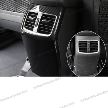 Lsrtw2017 Carbon Fiber Abs Car Rear Armrest Cover Anti-kick Panel Trims for Hyundai Tucson 2015 2016 2017 2018 2019 2020 Chrome lsrtw2017 carbon fiber leather car co pilot storage box anti kick mat for chery tiggo 8 2018 2019 2020