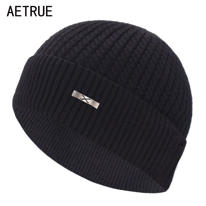 Brand Skullies Beanies Winter Knitted Hat Men Winter Hats For Men Cap Male Bonnet Homme Mask X Solid Women Winter Beanie Hat Cap