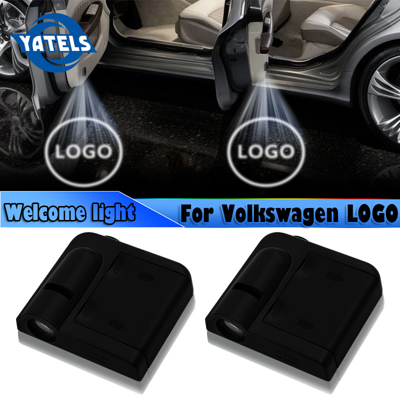 2pcs Car styling Wireless <font><b>LED</b></font> Car Door Welcome Laser Projector Logo For Volkswagen <font><b>passat</b></font> <font><b>b5</b></font> b6 b7 t4 t5 golf 4 5 6 7 Auto parts image