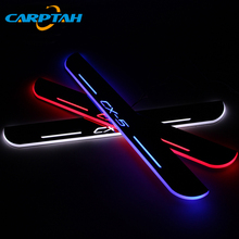 CARPTAH Trim Pedal Car Exterior Parts LED Door Sill Scuff Plate Pathway Dynamic Streamer light For Mazda CX-5 CX5 2016 2017 2018 fit for mazda cx 5 cx5 2017 2018 stainless steel car body scuff strip side door molding streamer cover trim car accessories 4pcs