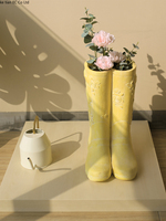 Creative art rain boots large flower pots umbrella storage rack outdoor garden decoration art vase