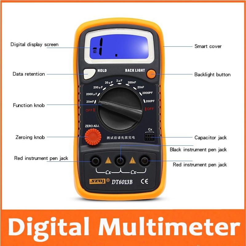 Измеритель емкости портативный цифровой измеритель емкости конденсатор с ЖК-подсветкой