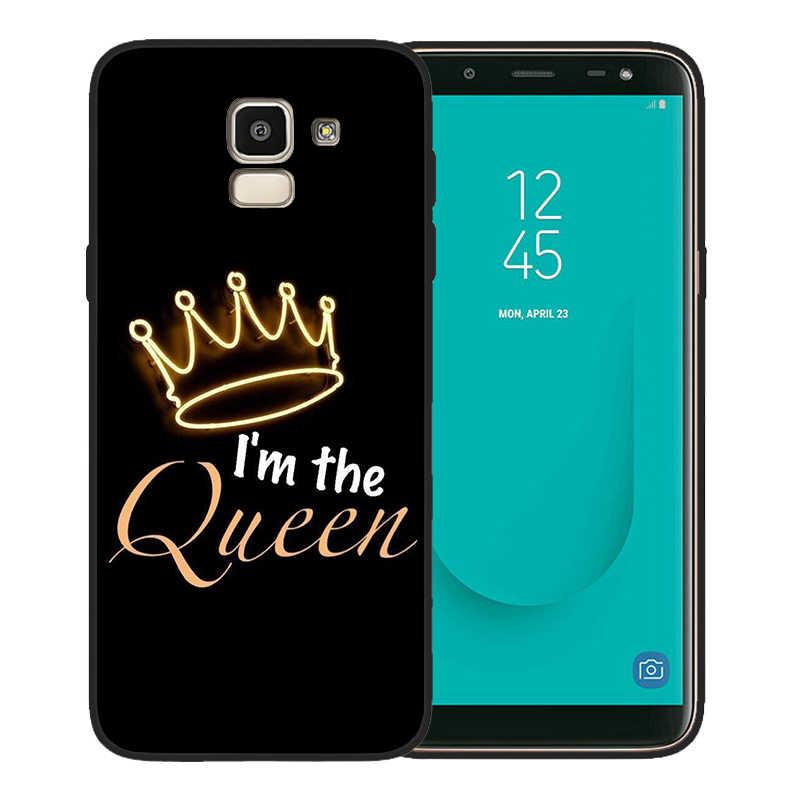 ケース漫画の王冠手紙王女王サムスンギャラクシー S10 ケース S8 S6 S7 S9 J2 J3 J5 J7 J4 j6 J8 2018 プラス小箱 Coque Carcasas