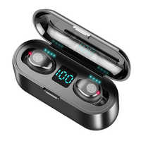 BEESCLOVER TWS Bluetooth V5.0 Wireless Touch Kopfhörer Led-anzeige Stereo Sport Earbuds 2000mAh Power für iPhone Xiaomi d35