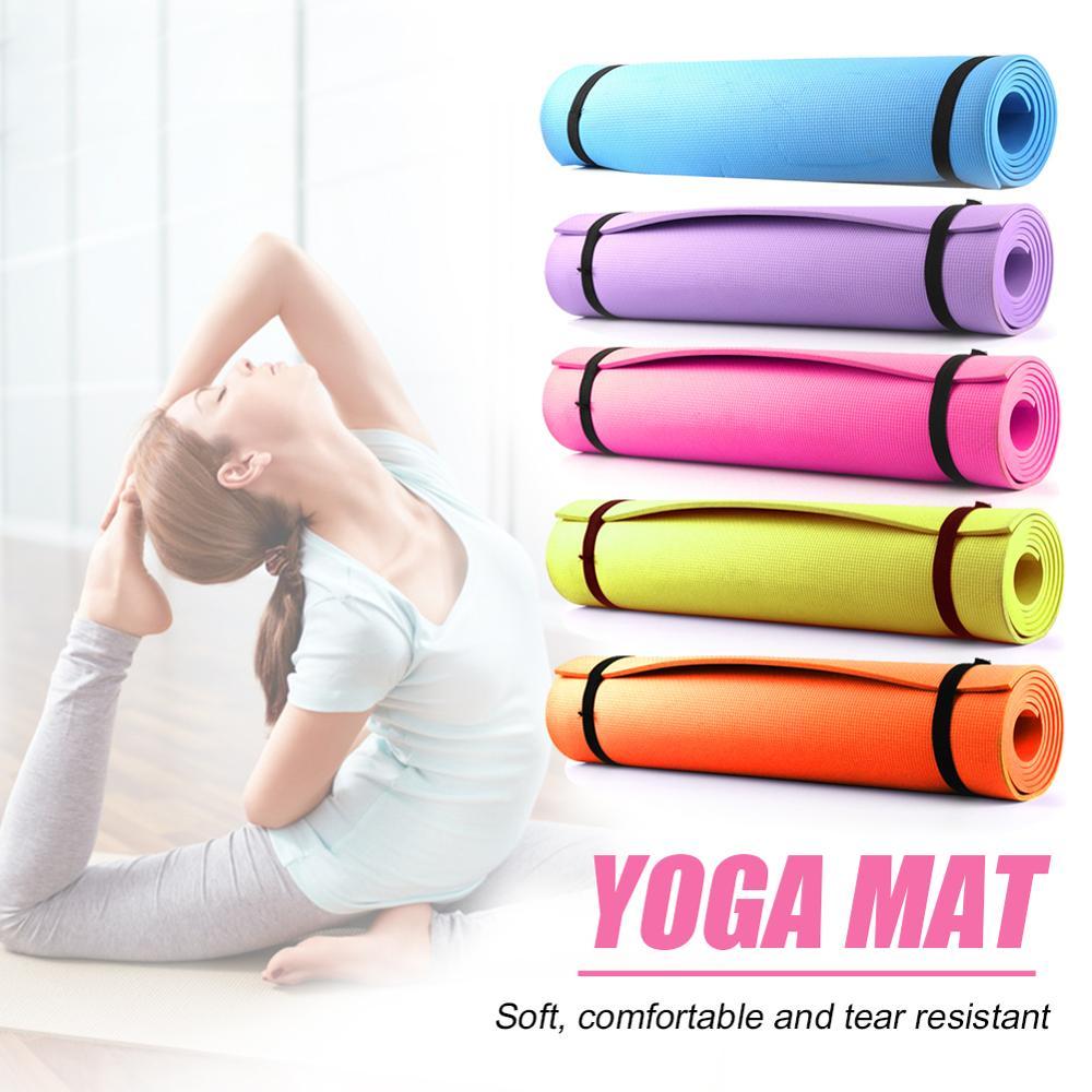 1830*610*6mm EVA Non Slip Yoga Mat Carpet Pilates Gym Sports Wear-resistant Exercise Pads For Fitness Beginner