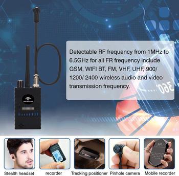 Anti Spy RF Detector,High Sensitivity Wireless Bug Detector for GPS Tracking GSM Listening Device Finder Radio Scanner 4