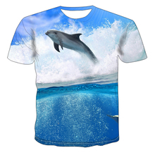 Graphic T-Shirt Dolphin Fishing Printed Plus-Size Tops Streetwear 3D O-Neck Men's Casual