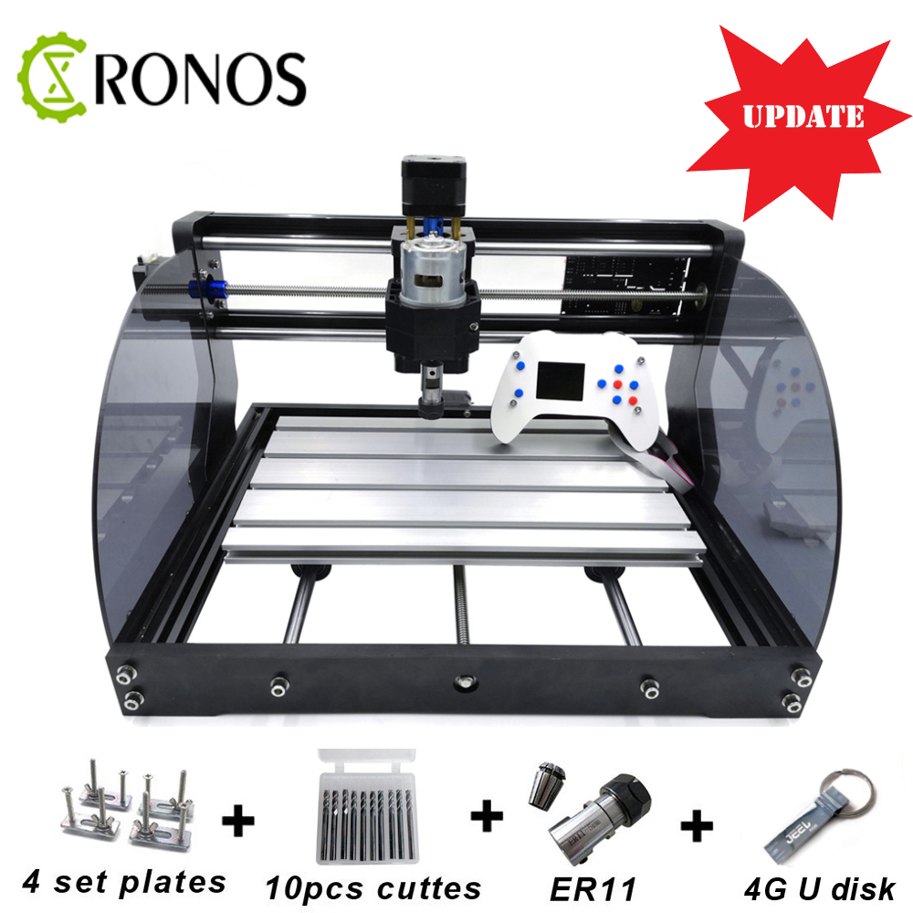 <font><b>CNC</b></font> 3018 <font><b>Max</b></font>+Offline Laser Engraver Wood DIY <font><b>CNC</b></font> Router Machine ,Pcb Milling Machine,Wood Router,GRBL Control,Craved On Metal image