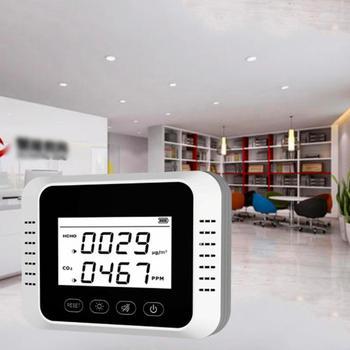 Przenośny cyfrowy detektor CO2 analizator powietrza wielofunkcyjny Tester formaldehydu Monitor jakości powietrza cyfrowy miernik CO2 HCHO PM2 5 tanie i dobre opinie ACEHE CN (pochodzenie) Elektryczne Air Quality Meter 350ppm-2000ppm
