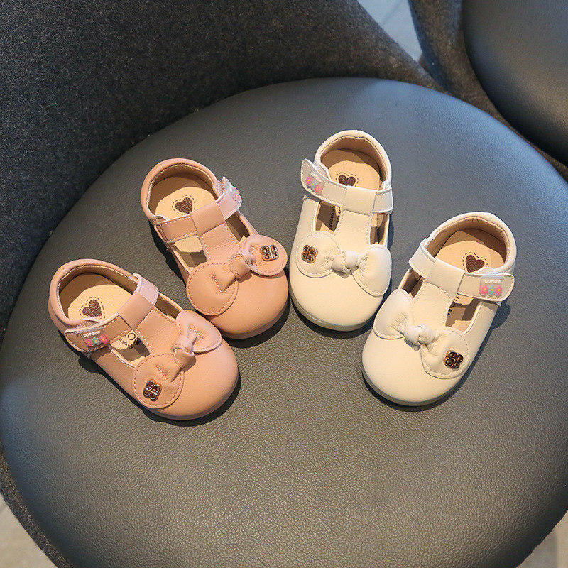 Spring And Autumn Baby Soft Bottom Toddler Shoes 0-2 Years Old Non-slip Toddler Princess Shoes Leather Shoes