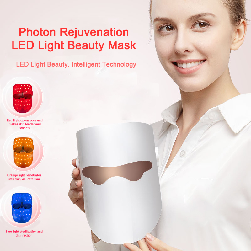Red light LED Facial Mask Belleza Facial Masque Beauty Skin Rejuvenation Photon LED Mask Therapy Wrinkle Acne Tighten Skin Tool 3