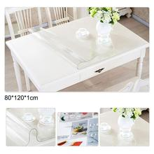 Waterproof PVC Transparent Tablecloth Round Scratch-resistant Oil-proof Desktop Protective Cover Kitchen Table Mat