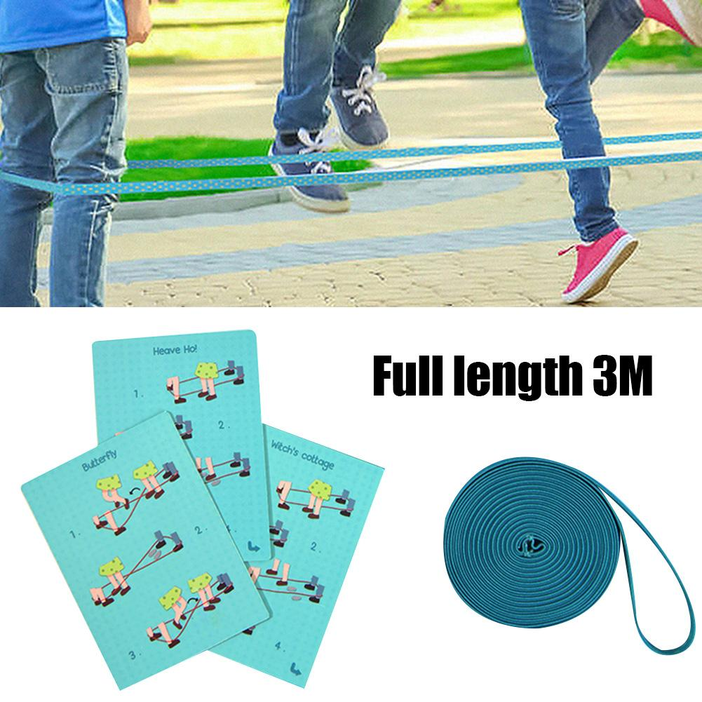 Children Stretching Elastic Rubber Band Jump Rope Parents Kids Interactive Classic Outdoor Garden Game Toy