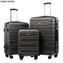 Yeni 20''24/28 inç bagaj seti seyahat bavul tekerlekler arabası bagaj kabin bavul hardside bagajında taşımak moda çanta