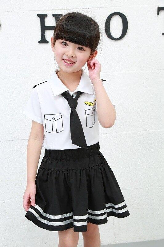 BOY'S Suit 2018 Summer New Style Korean-style Children Pilot Uniform Fashion Tie Shirt Shorts 2-Piece
