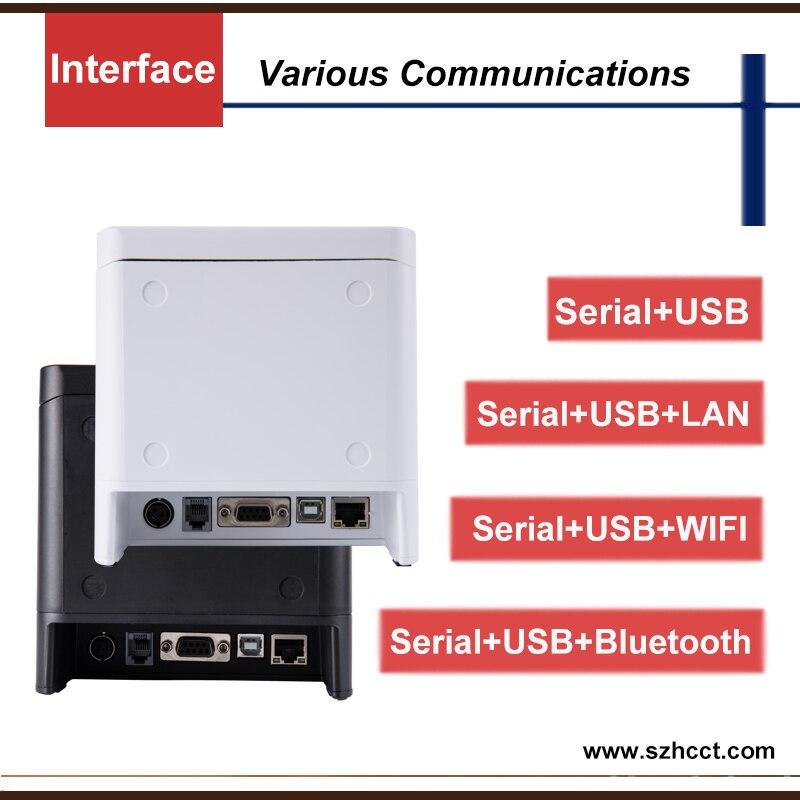 Fenster/Android/IOS 300 mm/s Druck Geschwindigkeit 80mm POS Drucker USB/RS232/WIFI/Bluetooth Empfang tickets Thermische Drucker POS80B
