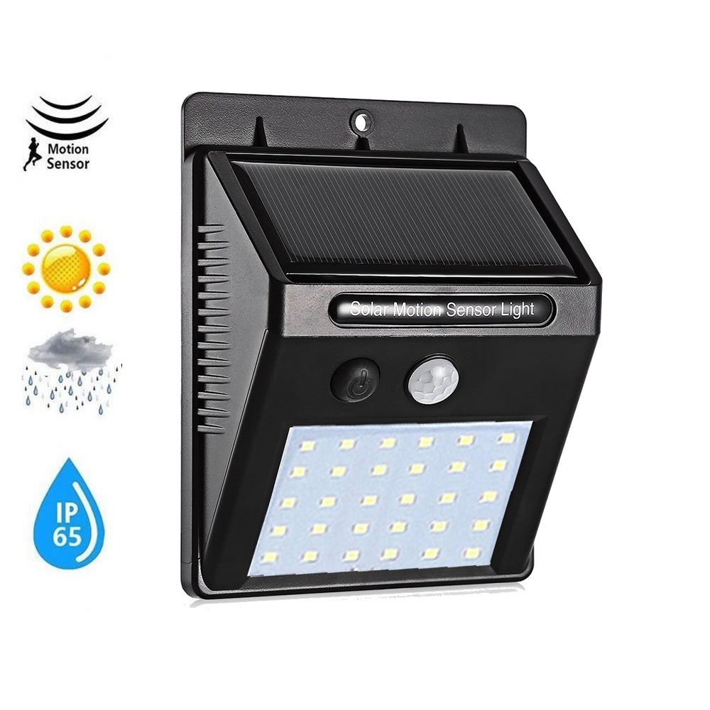 1/4pcs 30/40 LED Solar Power Lamp PIR Motion Sensor Wall Light Outdoor Waterproof Energy Saving Street Garden Yard Security