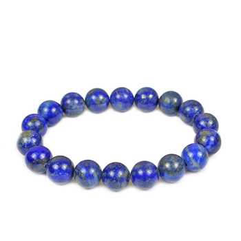 6mm 8mm 10mm Blue Color Natural Stone Beads Bracelets for Women Men Lapis Lazuli Bracelets Elastic Energy Pulsera Homme Jewelry image