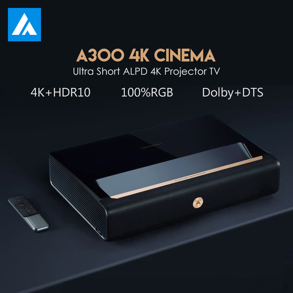 Original WEMAX A300 4K Projector Ultra Short Throw Laser Projector 9000 ANSI Lumen ALPD TV Home Theater Support 3D With Speaker