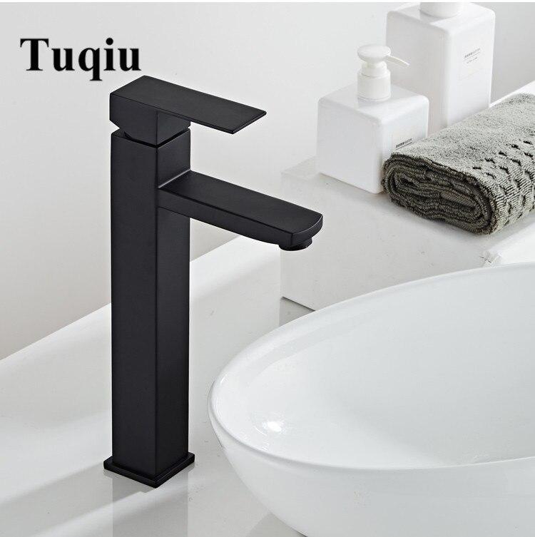 Смеситель для ванной комнаты, черный, для выпечки, 304, нержавеющая сталь, смеситель для раковины, кран для горячей и холодной раковины, кран д...