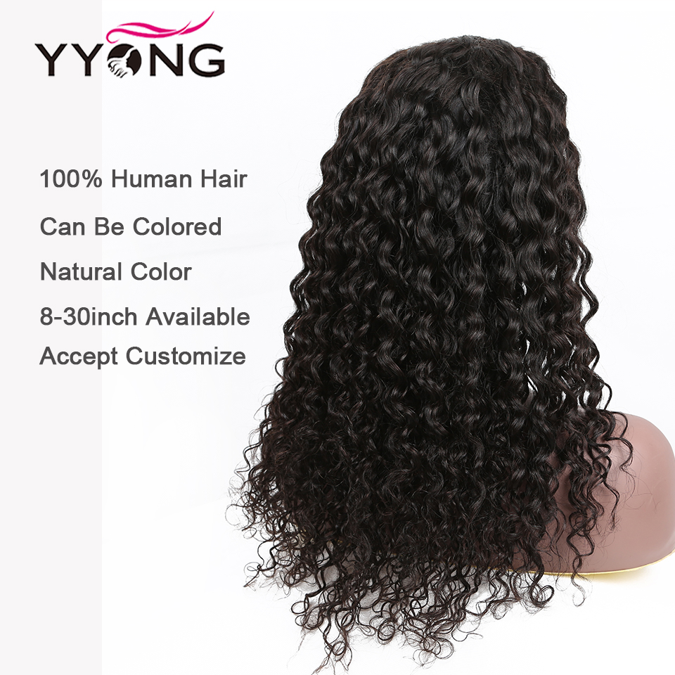 Yyong 1x4 I Part  Lace Wigs Indian Water Wave 4x4 Lace Closure Wig With Baby Hair  Lace Wigs 8- 32inch 5