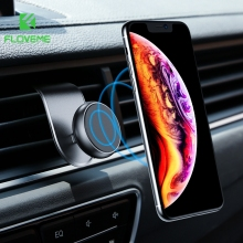 FLOVEME Magnetic Car Phone Holder Magnet Mount Vent Universal 360 Degree Dashboard Stand Support Smartphone Voiture