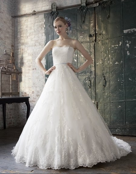 A-line Rich Re-embroidered Appliques Lace Couture Band Optional Romantic Chiffon Wrap Bridal Gown Mother Of The Bride Dresses