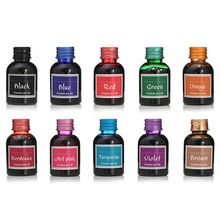 10Pcs 30ml Colorful Fountain Pen Ink Refilling Inks Stationery School Supplies