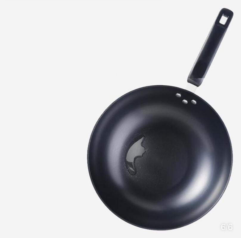 Iron Wok Wok Household Uncoated Non-stick Cooker Pan Gas Stove Universal Wrought Iron Wok Cooking Pot Cookware Cast Iron Pots