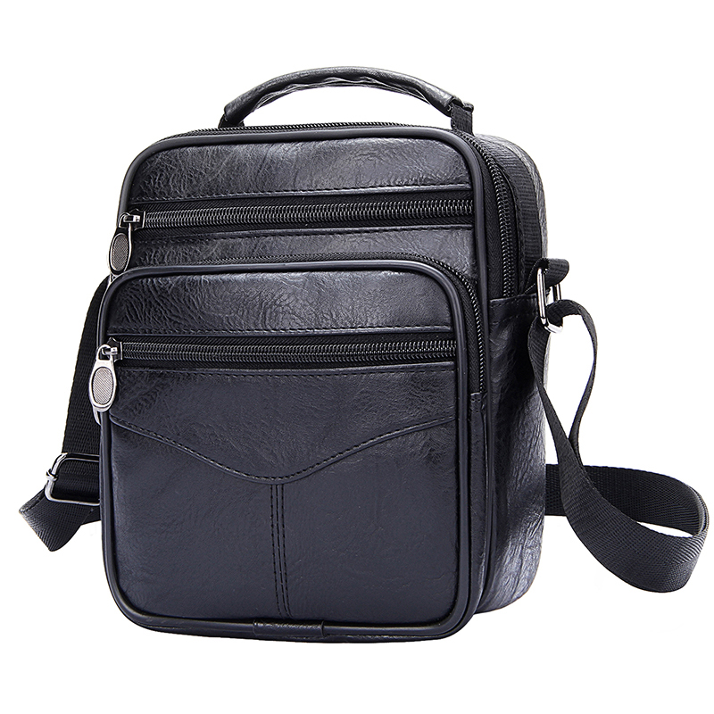 Crossbody Bags For Men Retro Men's Handbags Casual Business Briefcase Wide Strap Shoulder Bag Male Large Messenger Bags Satchels