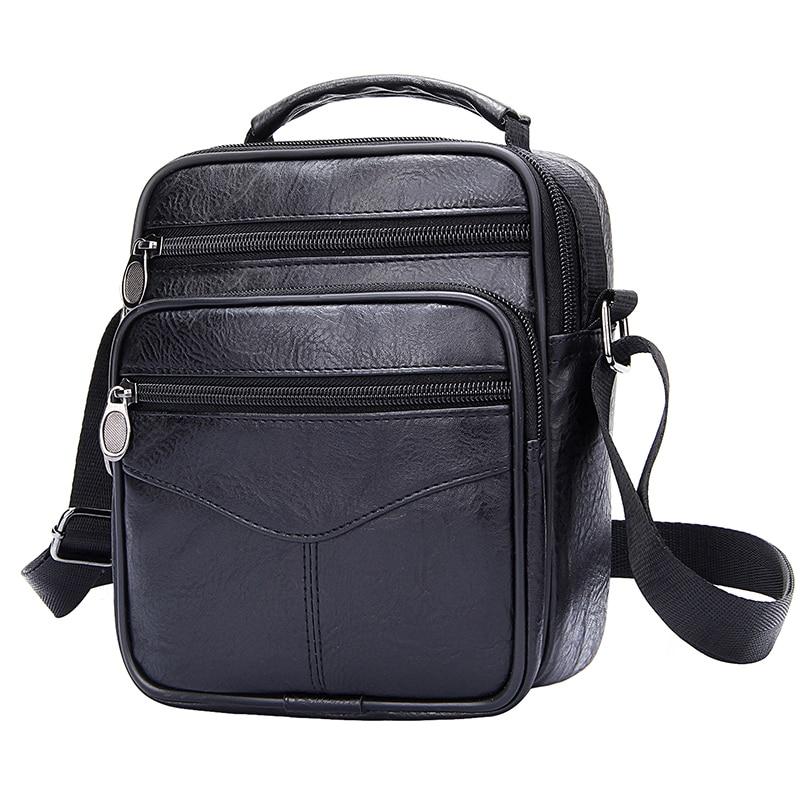 Crossbody Bags For Men Retro Men's Handbags Casual Business Briefcase Wide Strap Shoulder Bag Male Large Messenger Bags Satchels