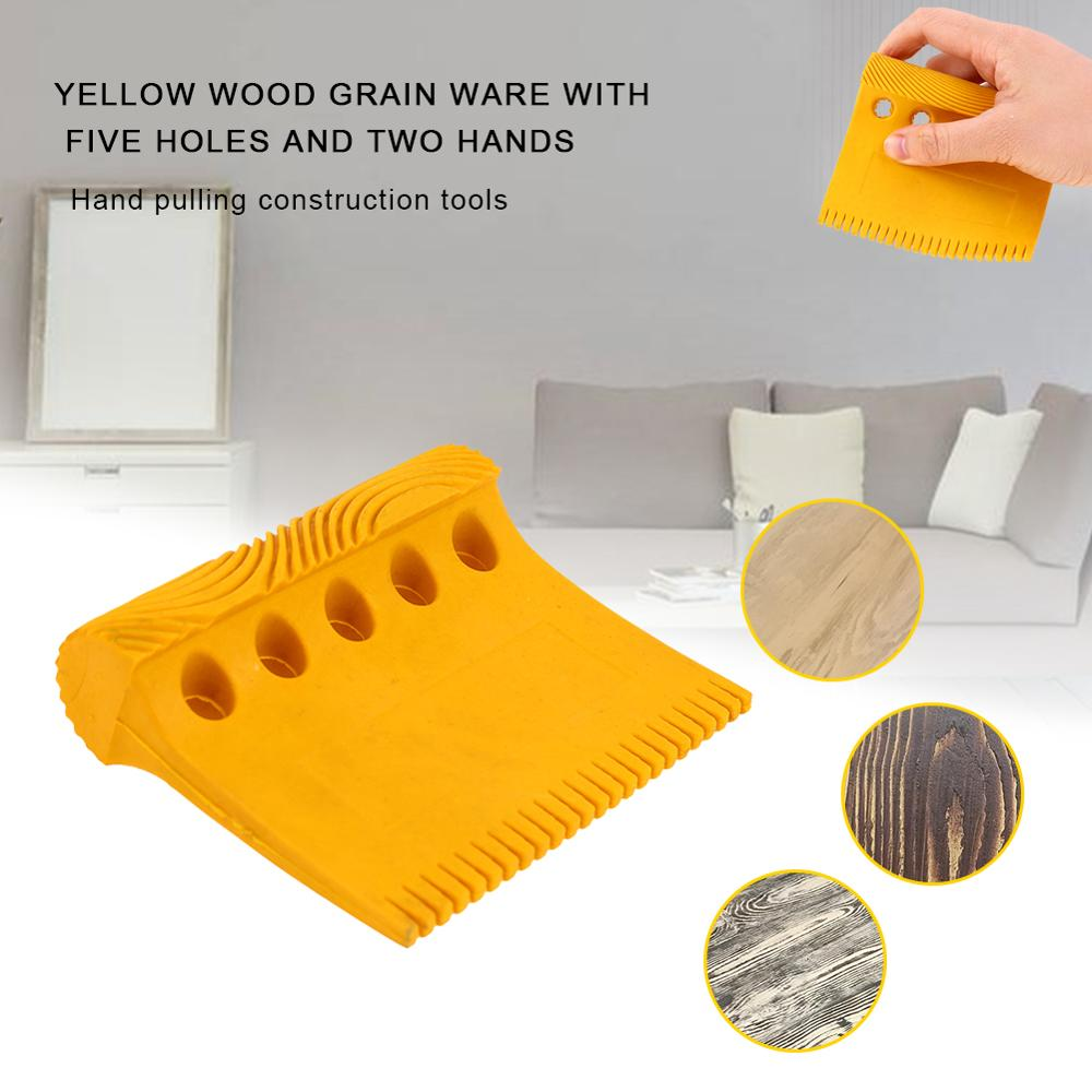 Wooden Grain Tool Empaistic Rubber Graining Pattern Stamp Scraper For Wall Decoration DIY