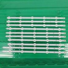 """Tela de retroiluminação led 1 conjunto = 10 peças/lote, peça usada original 42 """"tira led e74739 6916l 1214a 6916l 1215a 6916l 1216a 6916l 1217a"""