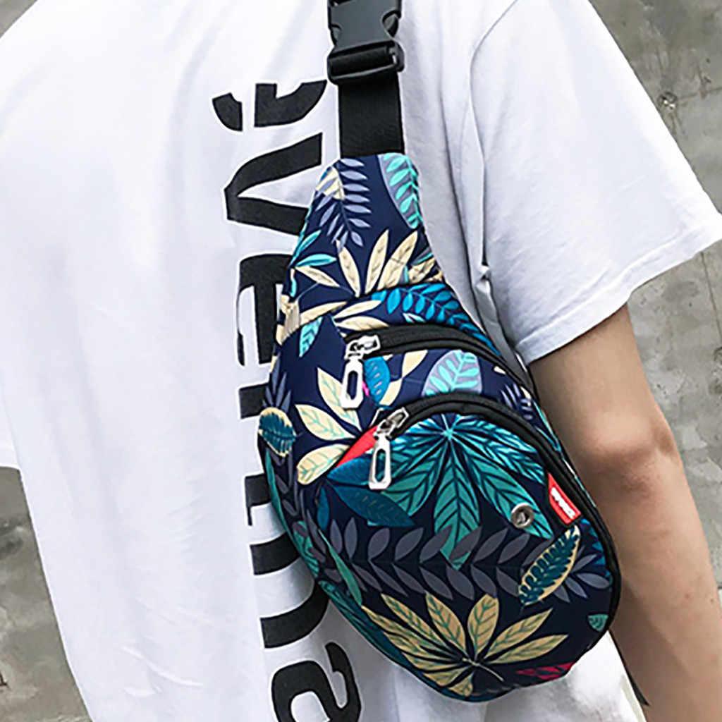 2019novo zíper crossbody saco de moda masculina e feminina esporte wais à prova dwaterproof água bolsa de ombro sacos de impressão bandolera