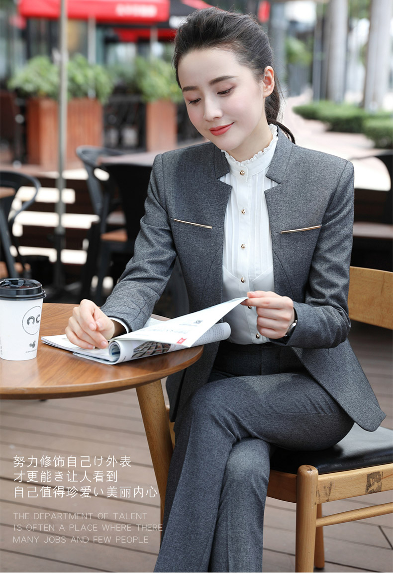 Women Formal Suits Office Lady Work Wear Uniform Design Autumn Winter Pants Blazer Set Fashion Plus Size Jacket Suit Female 2020