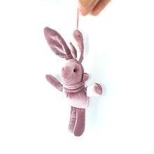 15 см длинный заяц желанный кролик Корейский Бархатный мини букет кролик кукла-подвеска плюшевая игрушка подарок для детей