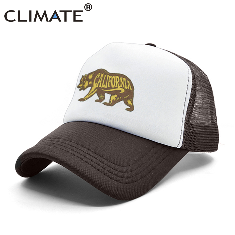 CLIMATE California Bear Trucker   Cap   California Republic Flag   Caps   Hip Hop Men Women Hat   Baseball     Cap   Cool Summer Mesh   Caps