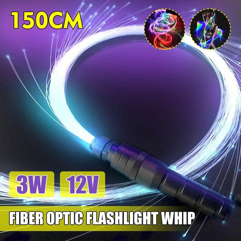 Lumières en Fiber optique 3 W, lumières à Fiber optique 3W 12/40 modes fouet en Fiber optique 150cm éclairage Ambilight à longue durée de vie