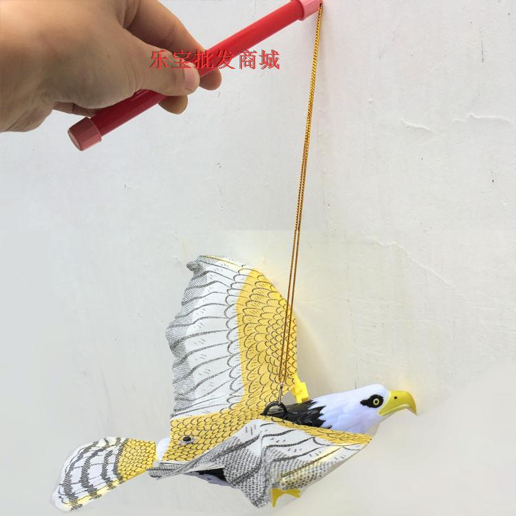 Hair Flying Bird Children Electric Eagle Will Light Band Eagle Yiwu Sound Stall Without Battery Toy Suspension Wire China