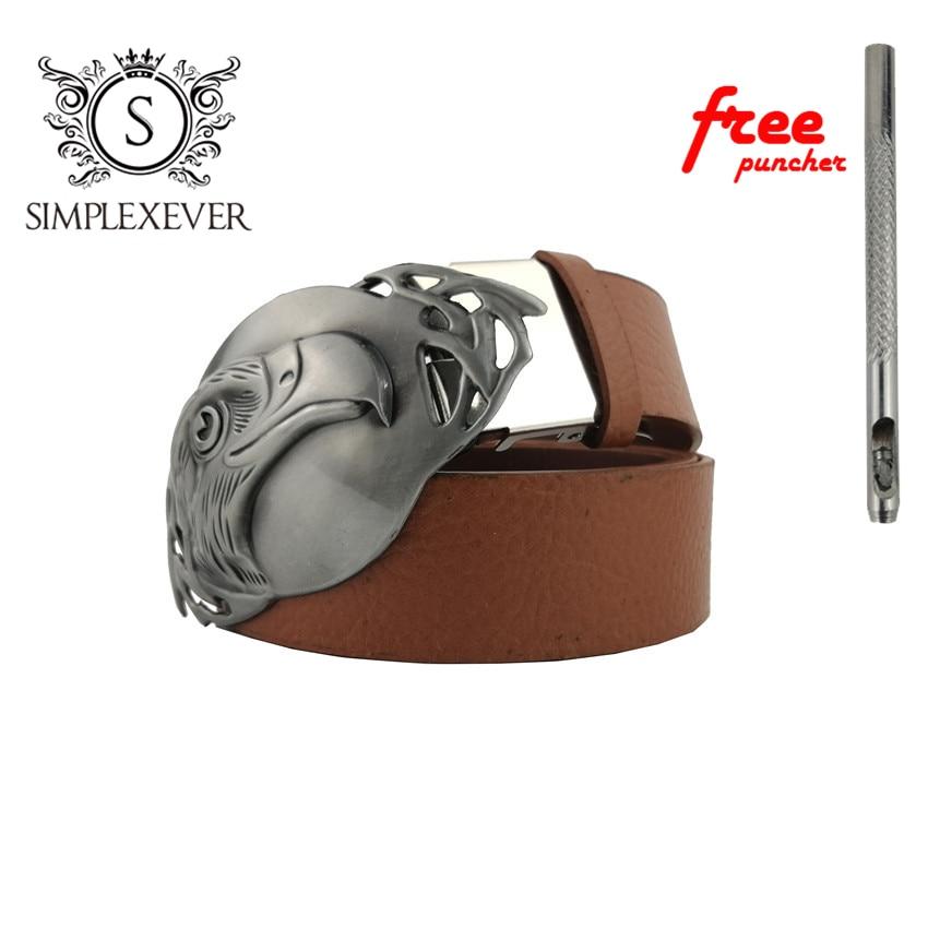 Big Eagle Metal Belt Buckles For Man Unisex Western Buckles Cowboys Cowgirls Cool Owl Buckle Luxury Causal Hebilla
