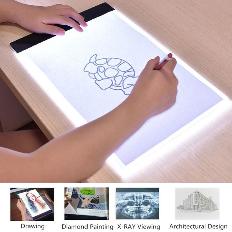 <font><b>LED</b></font> Writing Digital Drawing Tablet A4/<font><b>A5</b></font> Graphic Tablets <font><b>LED</b></font> <font><b>Light</b></font> Box <font><b>Pad</b></font> Electronic USB Tracing Art Copy Board Painting Table image