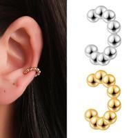 Mode métal oreille cerceau pince oreille manchette ensemble pour les femmes Boho à la mode empilable manchette déclaration Clip boucles d'oreilles écouteurs bijoux